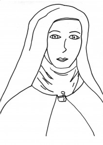 St Therese Coloring Page 2