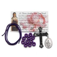 kit-sacrifice-beads-purple-black-cross-miraculous-medal