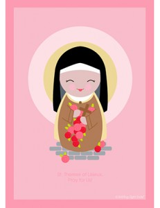 Happy feast of st therese little ways sacrifice beads sttereseoflisieuxprintable1 m4hsunfo