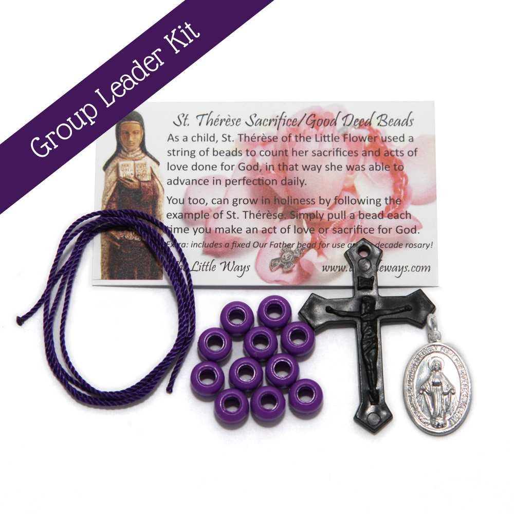 group leader kit includes 50 kits with plastic cross and miraculous medal